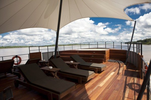 Outdoor Lounge Aria Amazon Amazon River Luxury Cruises Aqua Expeditions