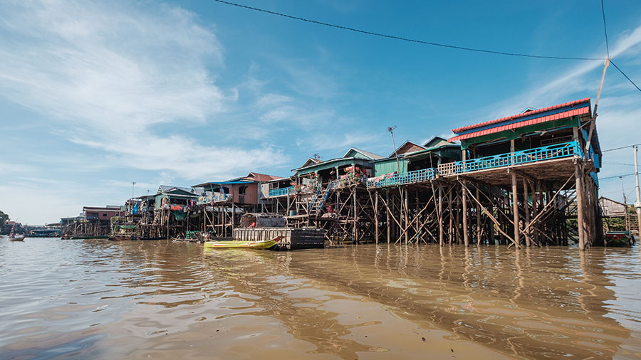 Tonle Sap in the Low Water Season